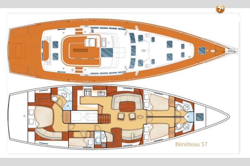 Beneteau 57 Sailboat